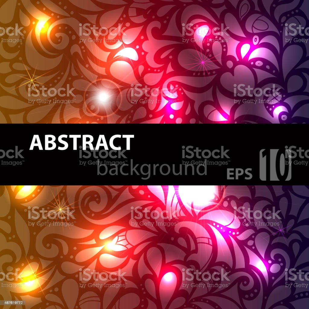 Abstract disco glowing pattern on background. Vector illustration vector art illustration