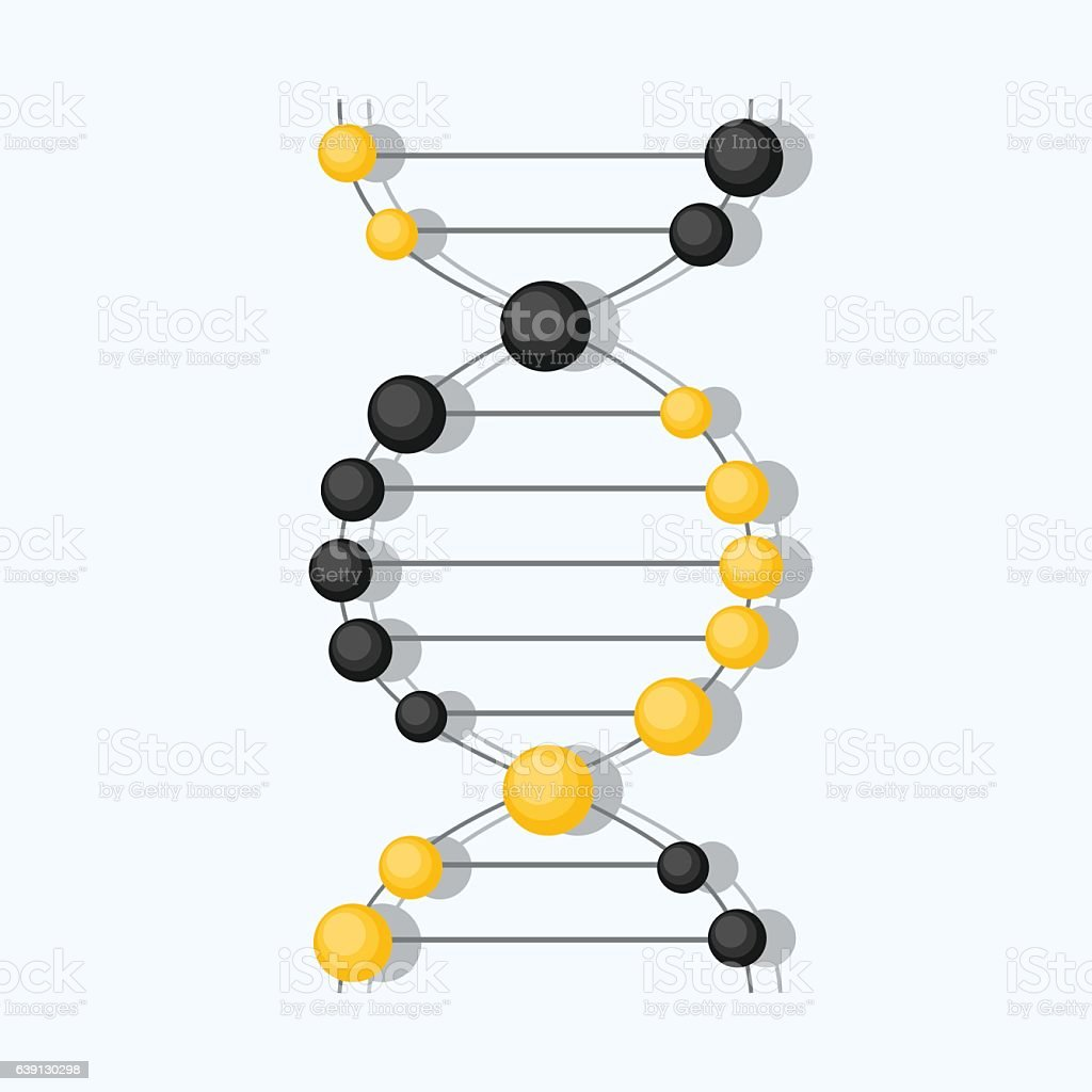 Abstract DNA background. Vector illustration. Beautiful structure of the spiral vector art illustration