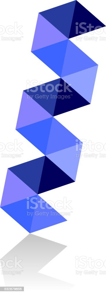 abstract dna blue vector art illustration