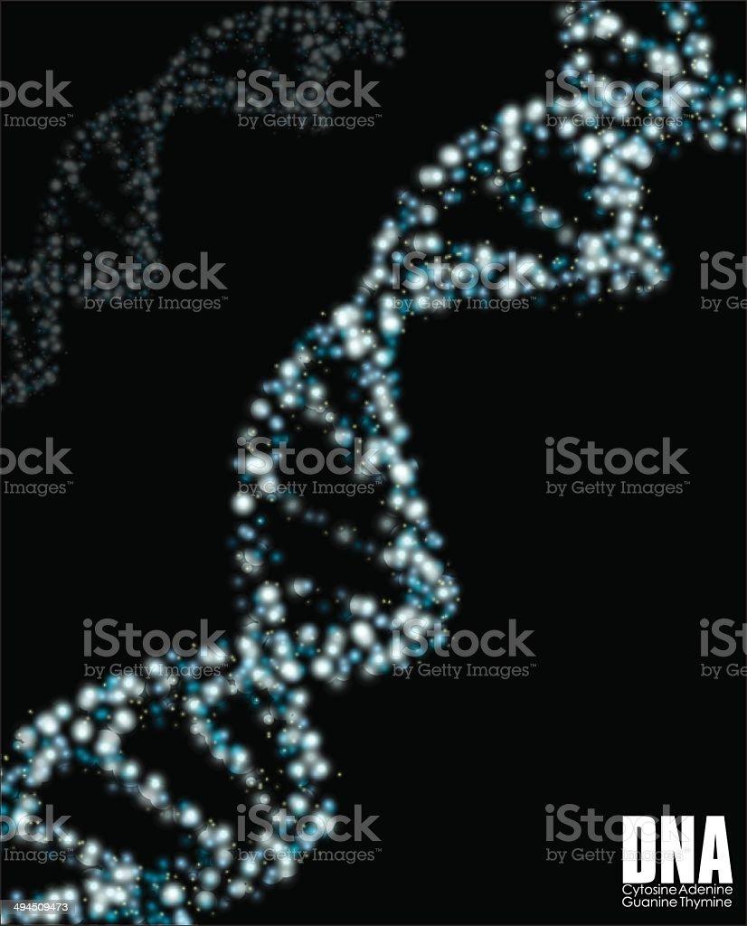 Abstrait ADN stock vecteur libres de droits libre de droits