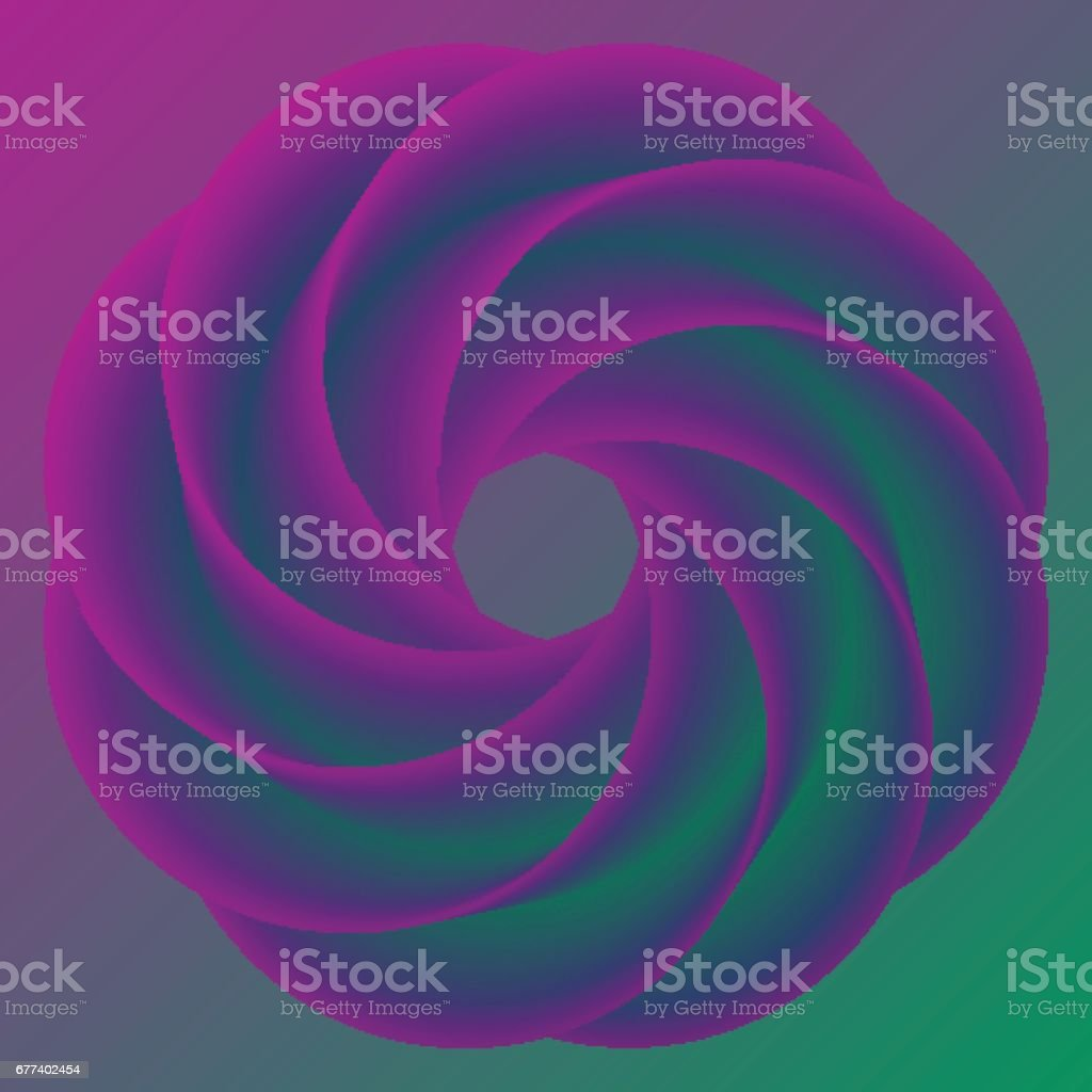 Abstract donut colorful rainbow background. Vector illustration vector art illustration