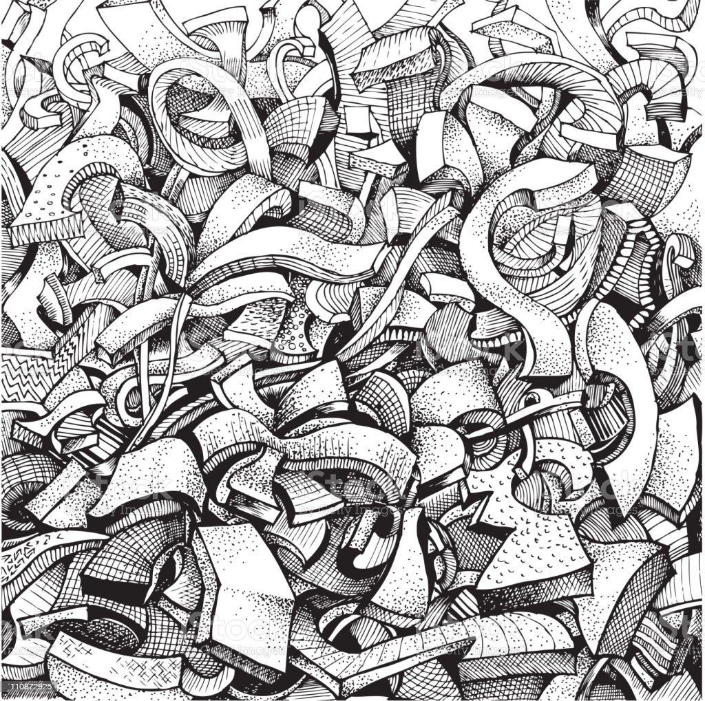 Abstract doodles vector art illustration