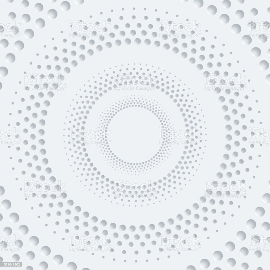 3D abstract dots circle pattern background vector art illustration