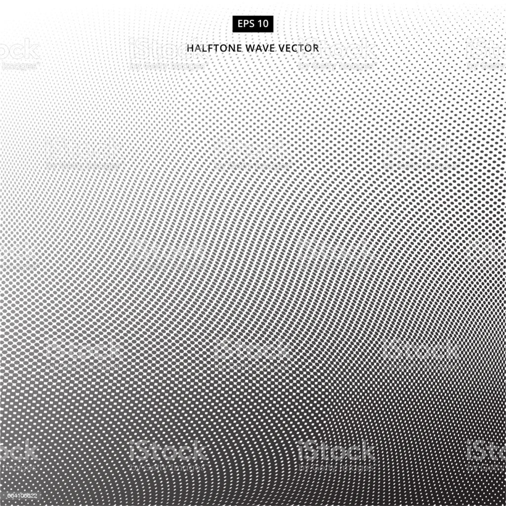 Abstract dotted background. Halftone wave effect vector background vector art illustration