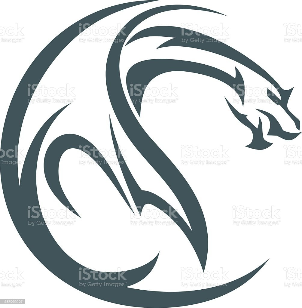 dragon abstrak vector art illustration