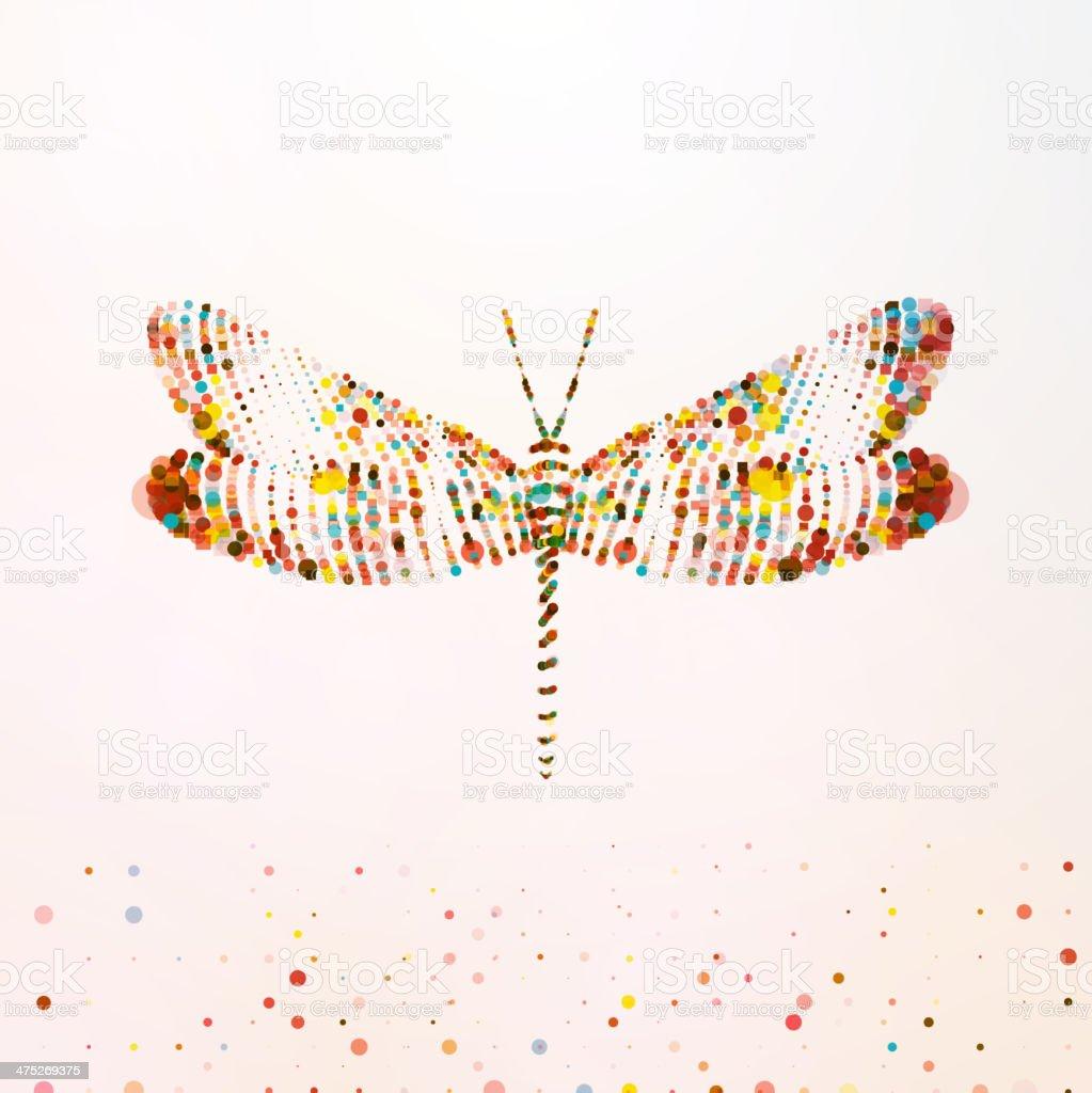Abstract dragonfly vector art illustration