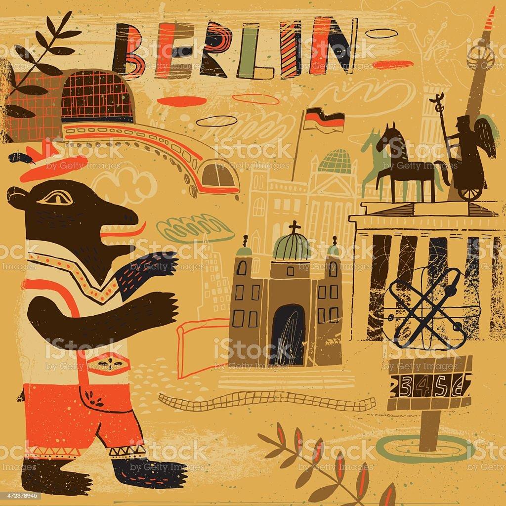 Abstract drawing representing Berlin, Germany vector art illustration