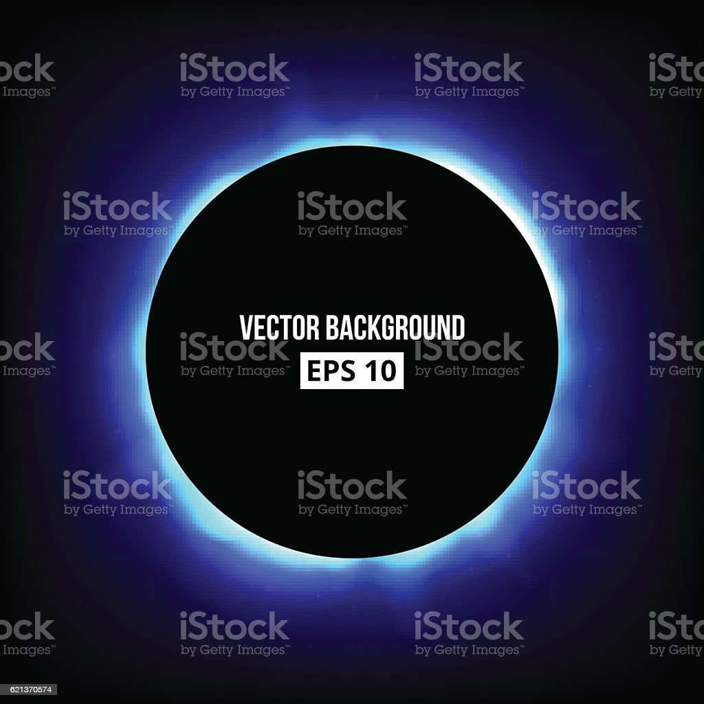 Abstract eclipse background. vector art illustration