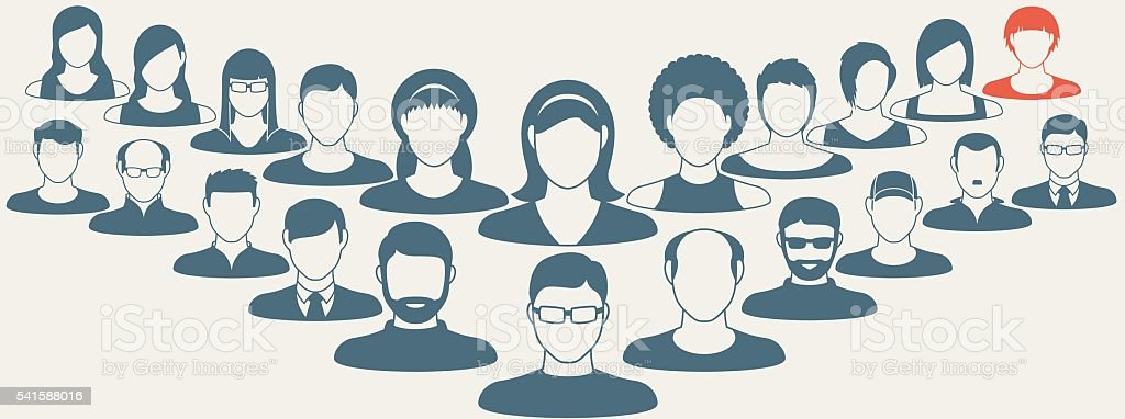 Abstract Elements.Social icons.People icon.People Flat icons collection vector art illustration