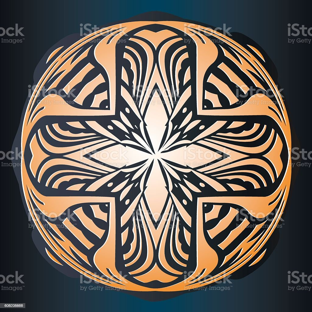 abstract embossed decor symmetrical pattern interwoven lines