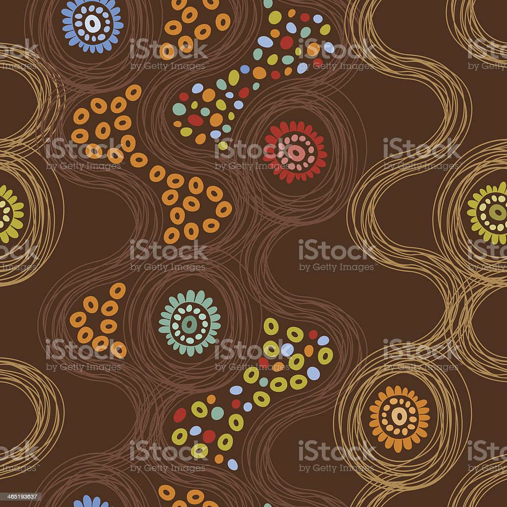 Abstract endless background with flowers royalty-free stock vector art