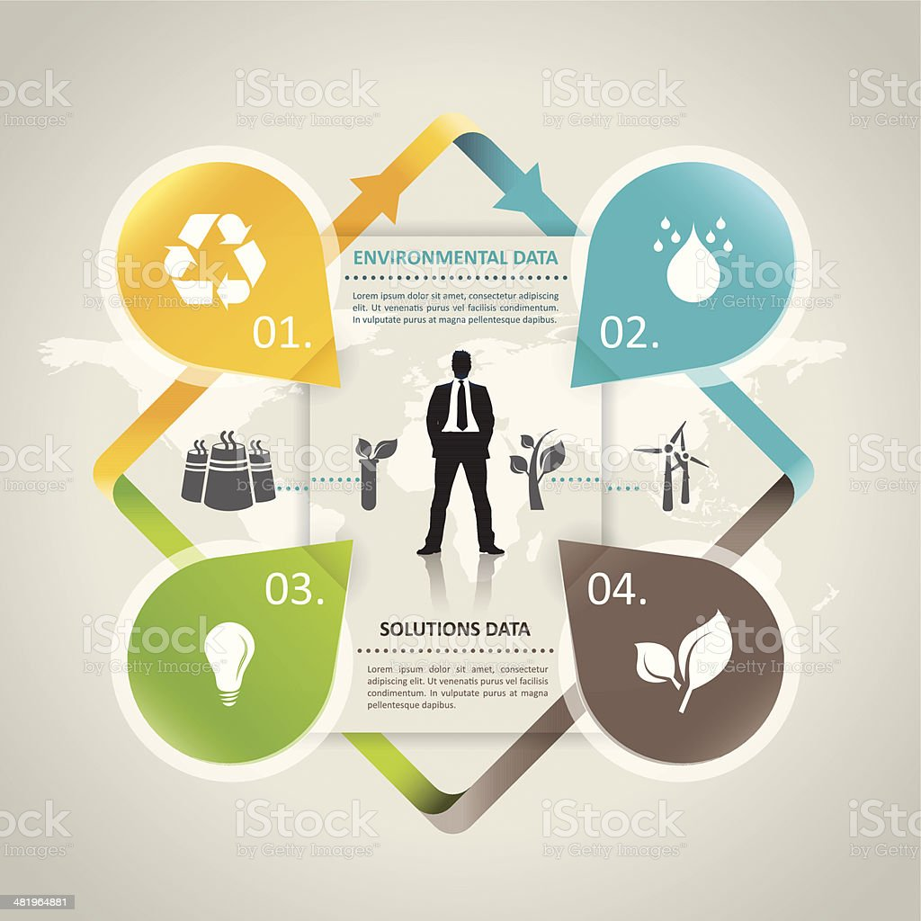 Abstract environmental infographic vector art illustration
