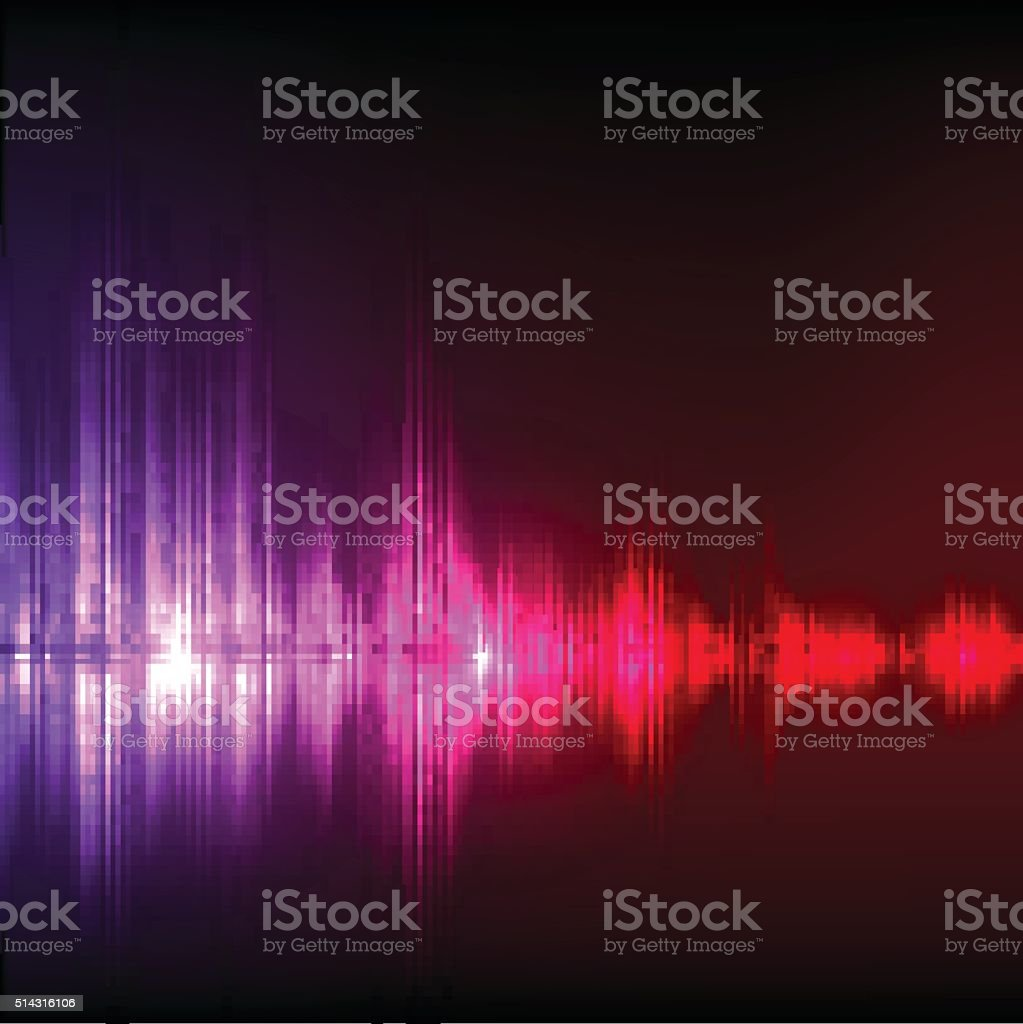 Abstract equalizer background. Purple-red wave. vector art illustration