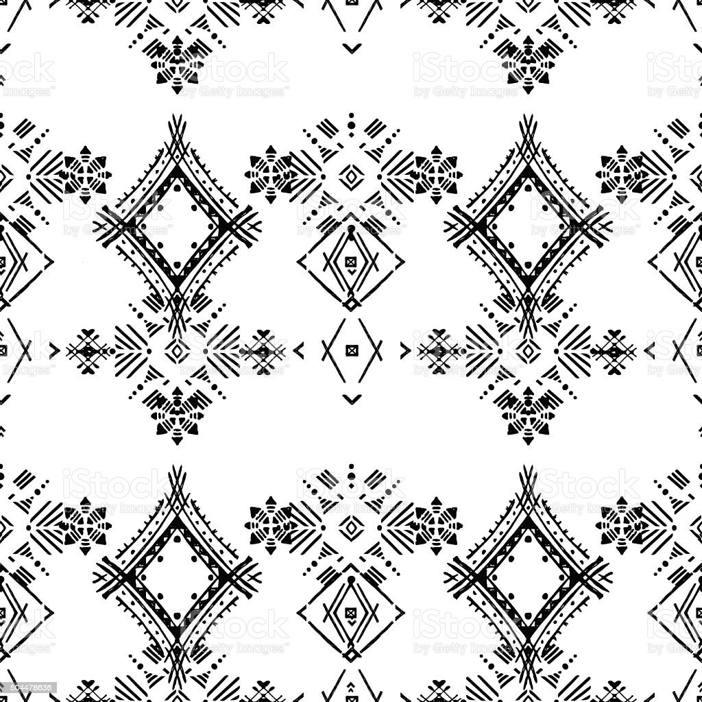 Abstract ethnic seamless pattern vector art illustration