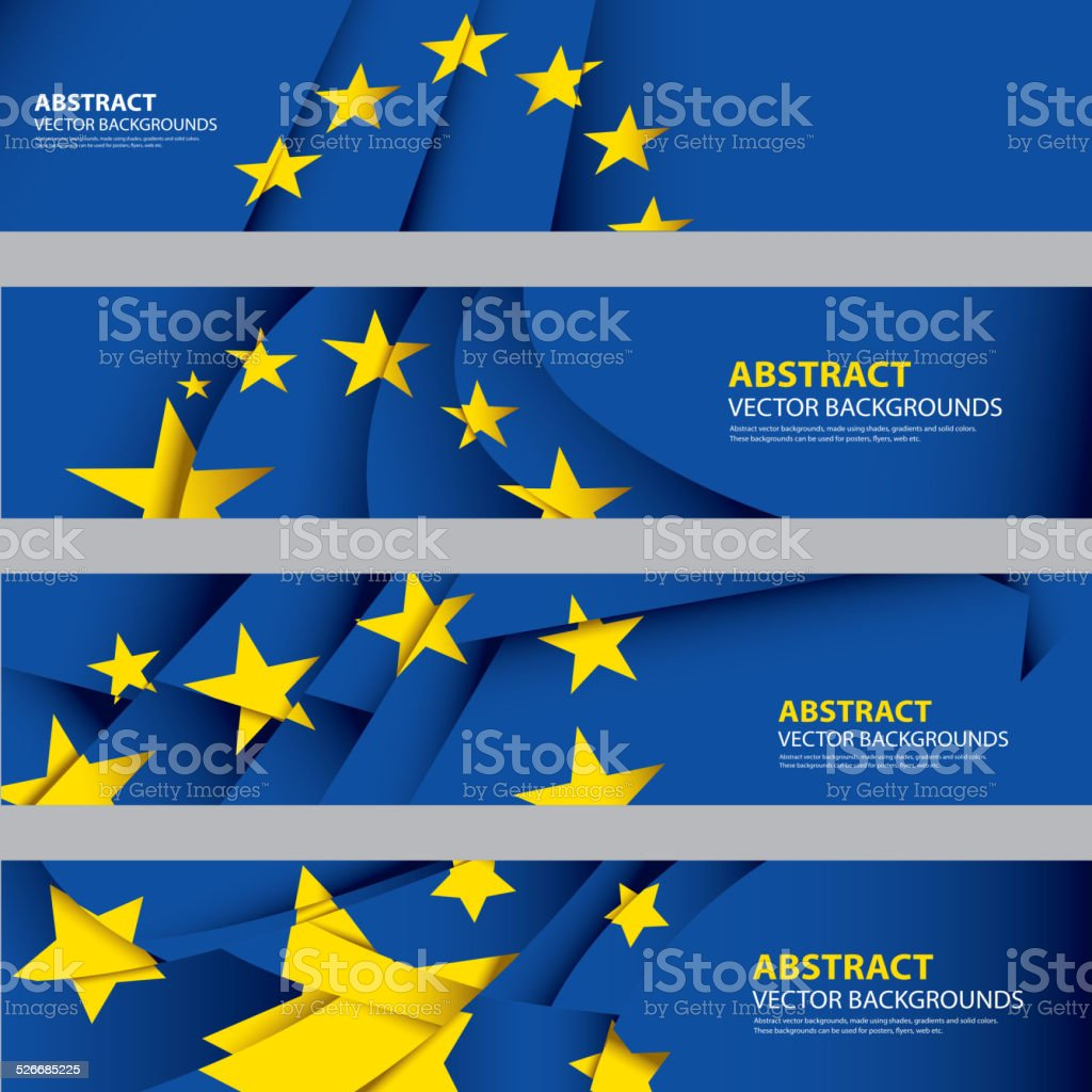 Abstract EU Flag, European Union Colors (Vector Art) vector art illustration
