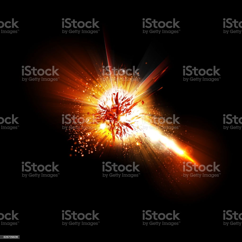 Abstract explode effect vector art illustration