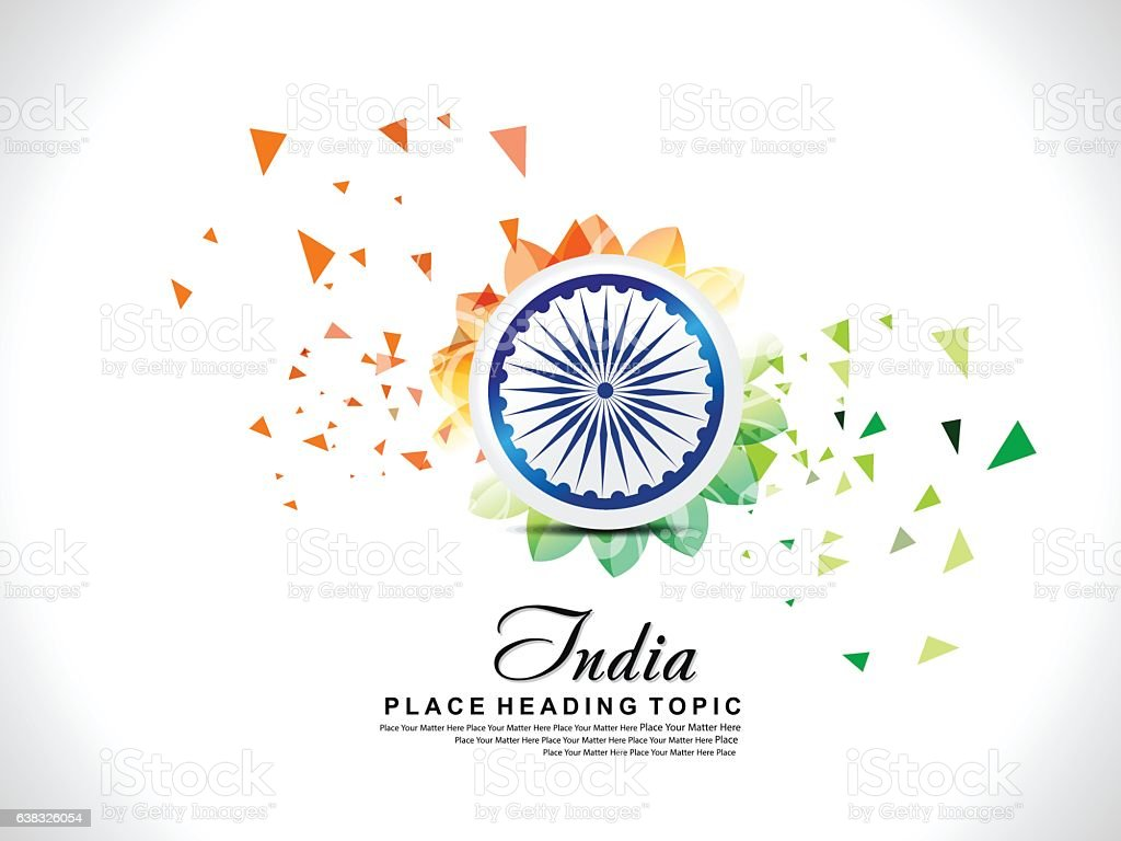 abstract exploded indian republic day background with floral vector art illustration