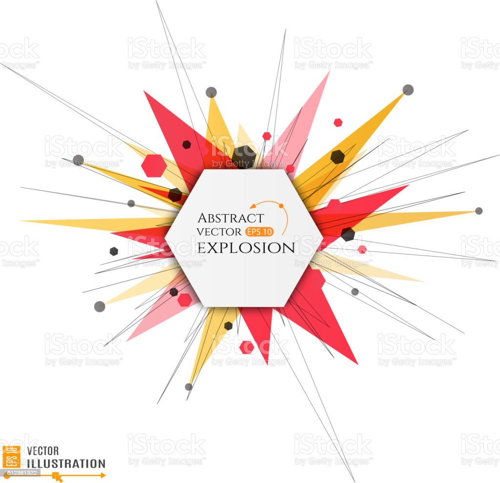 Abstract explosion banner vector art illustration