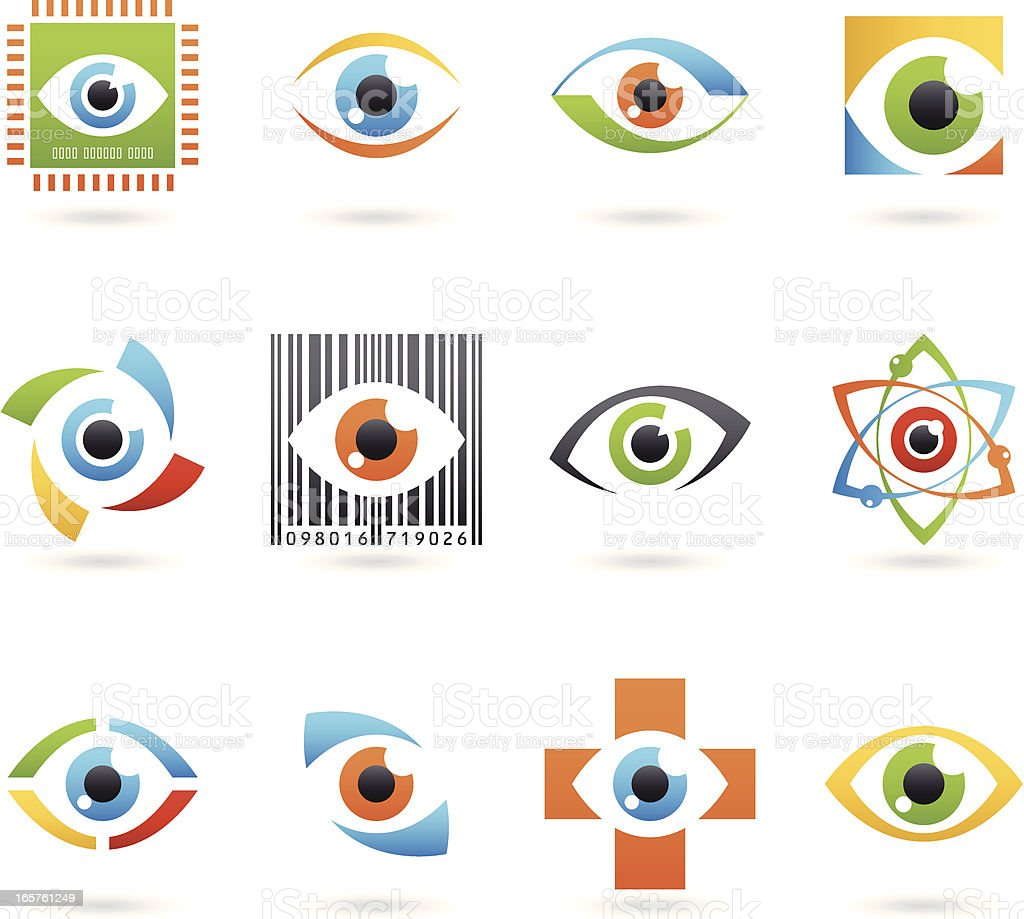 Abstract Eye Icons vector art illustration