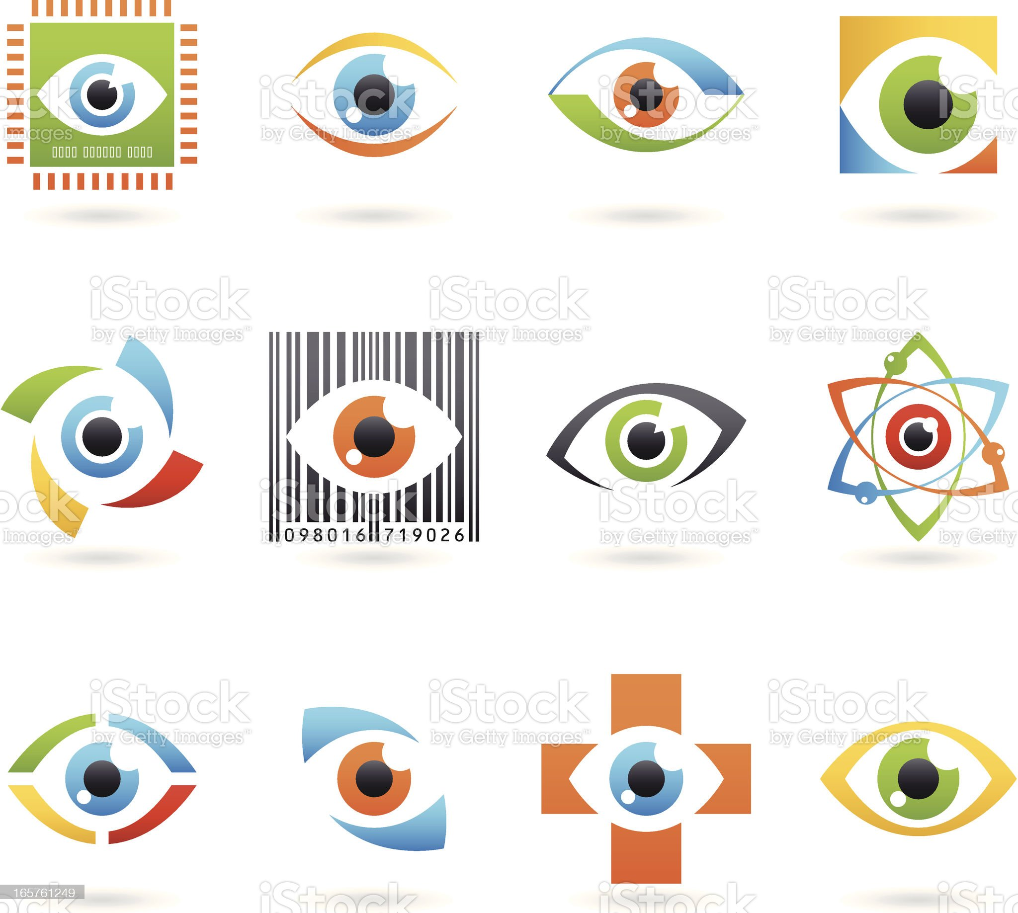 Abstract Eye Icons royalty-free stock vector art