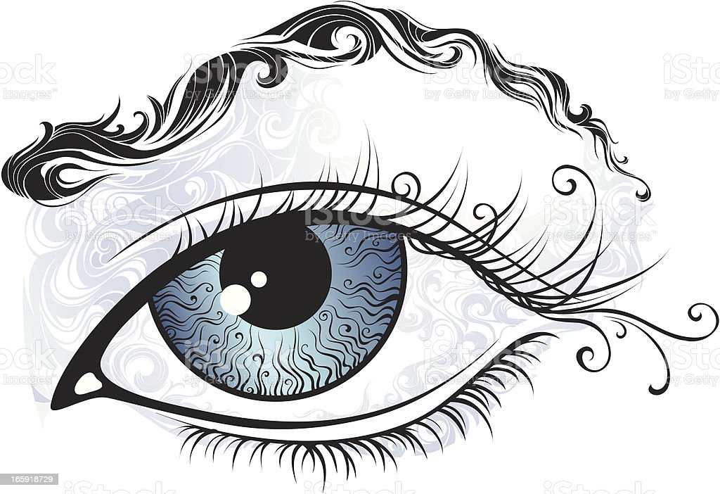 Abstract eye vector art illustration