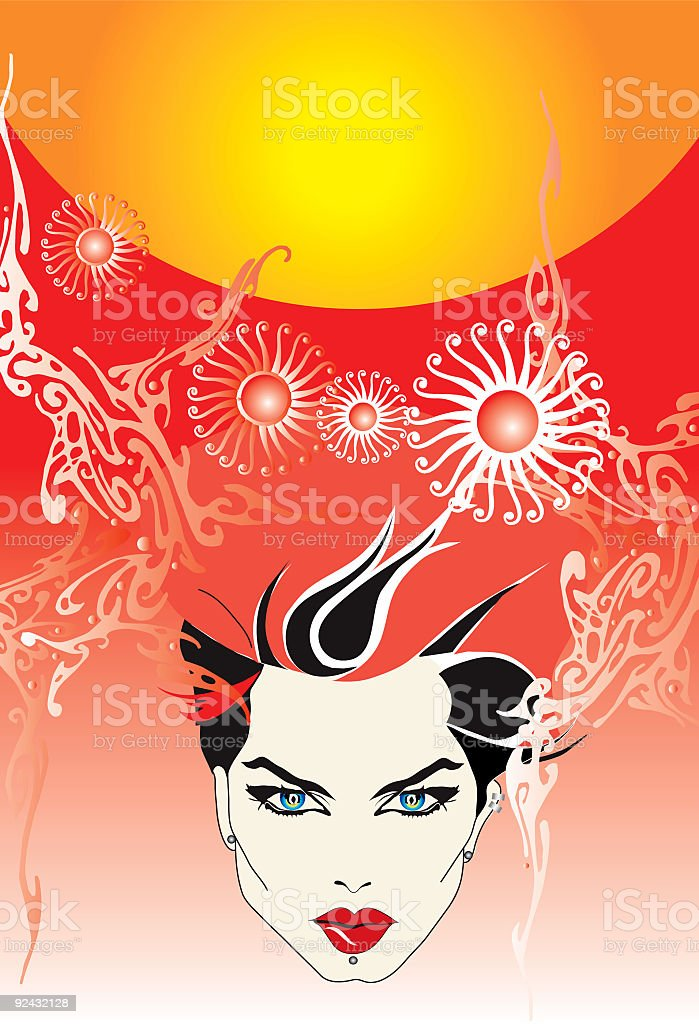 Abstract face royalty-free stock vector art