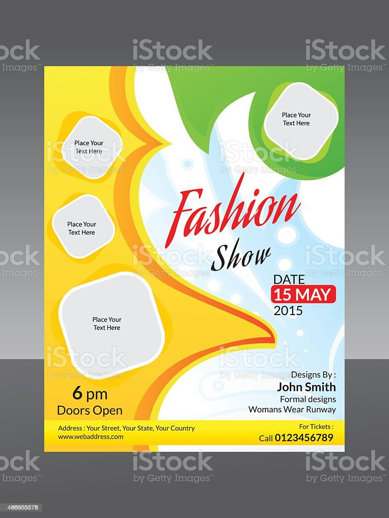 abstract fashion flyer template vector art illustration