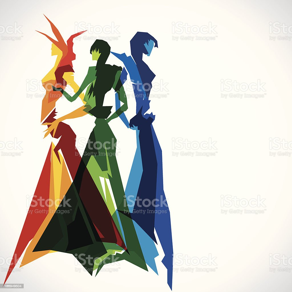 abstract fashion vector art illustration