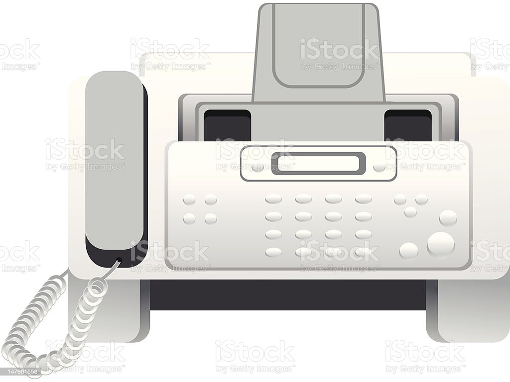 abstract fax icon royalty-free stock vector art