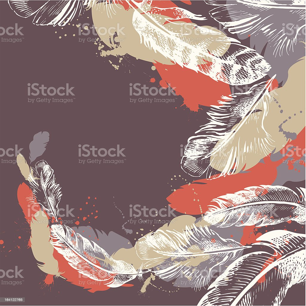 Abstract feather background royalty-free stock vector art