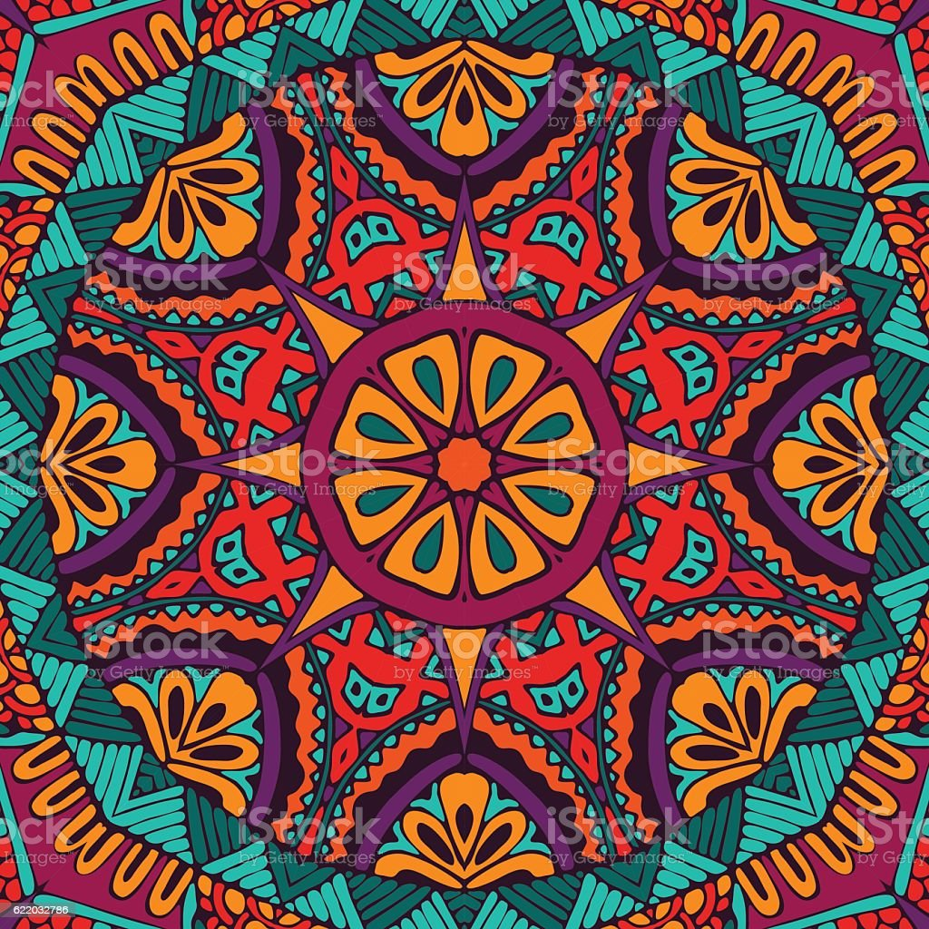 Abstract festival vintage ethnic seamless pattern vector art illustration
