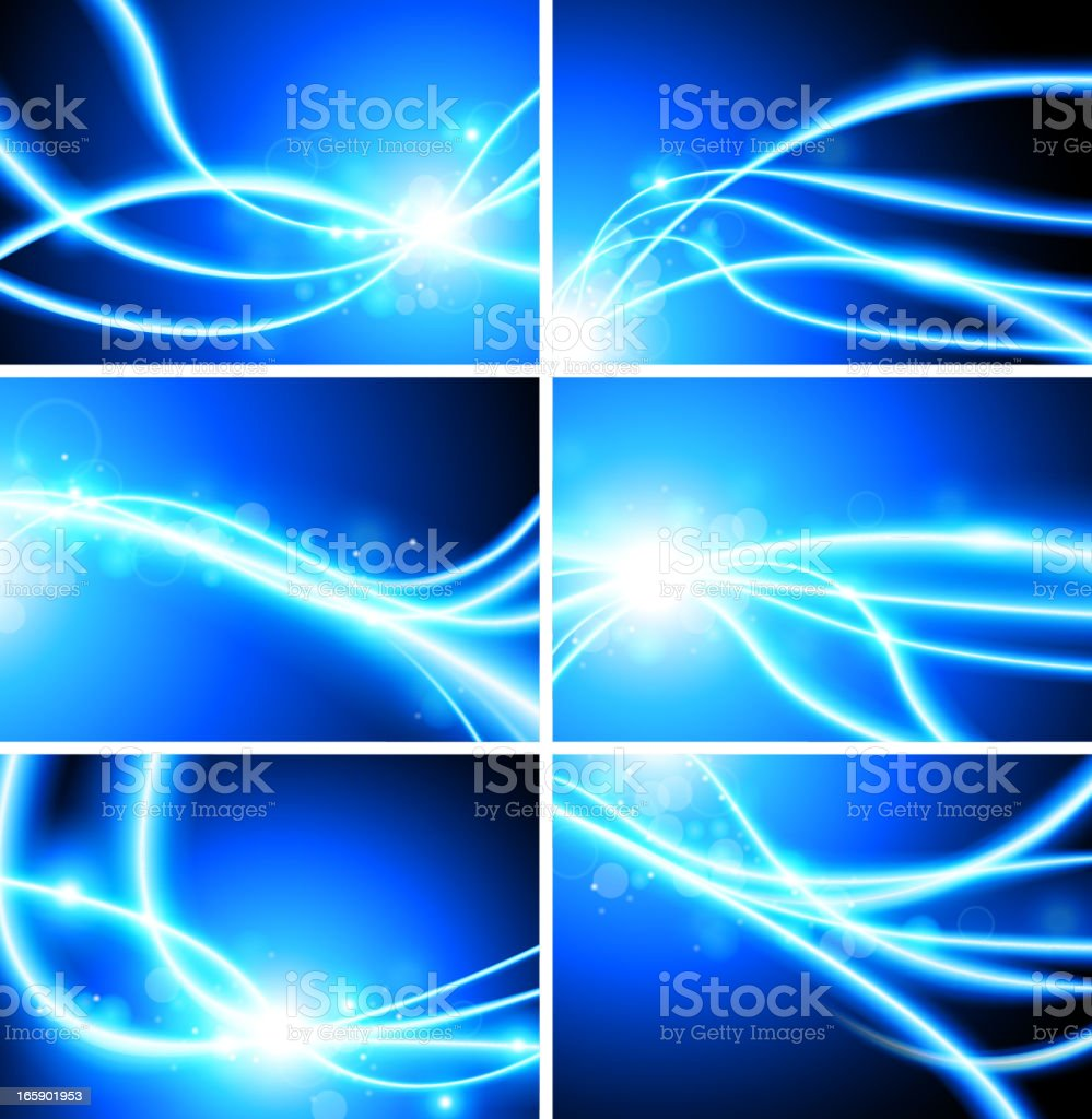 abstract fiber optic lights Background vector art illustration