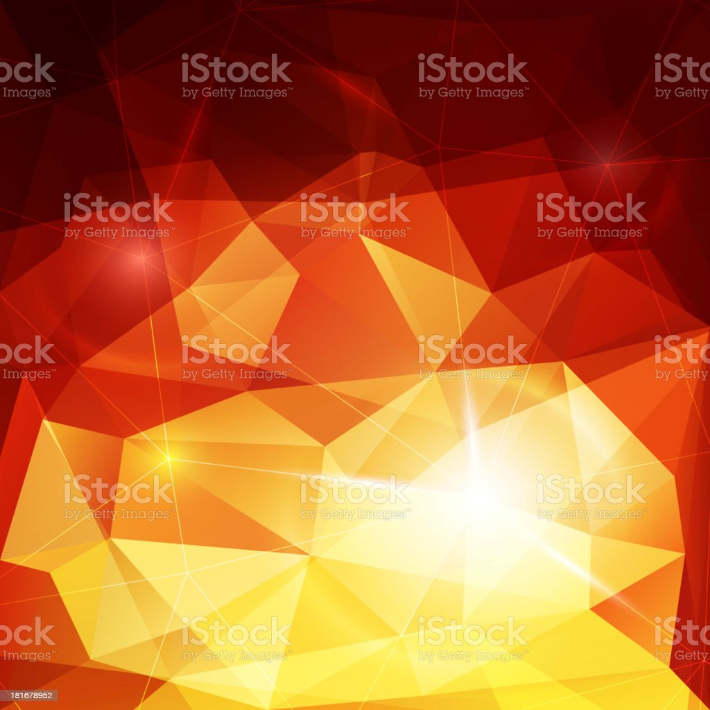 Abstract fiery background vector art illustration