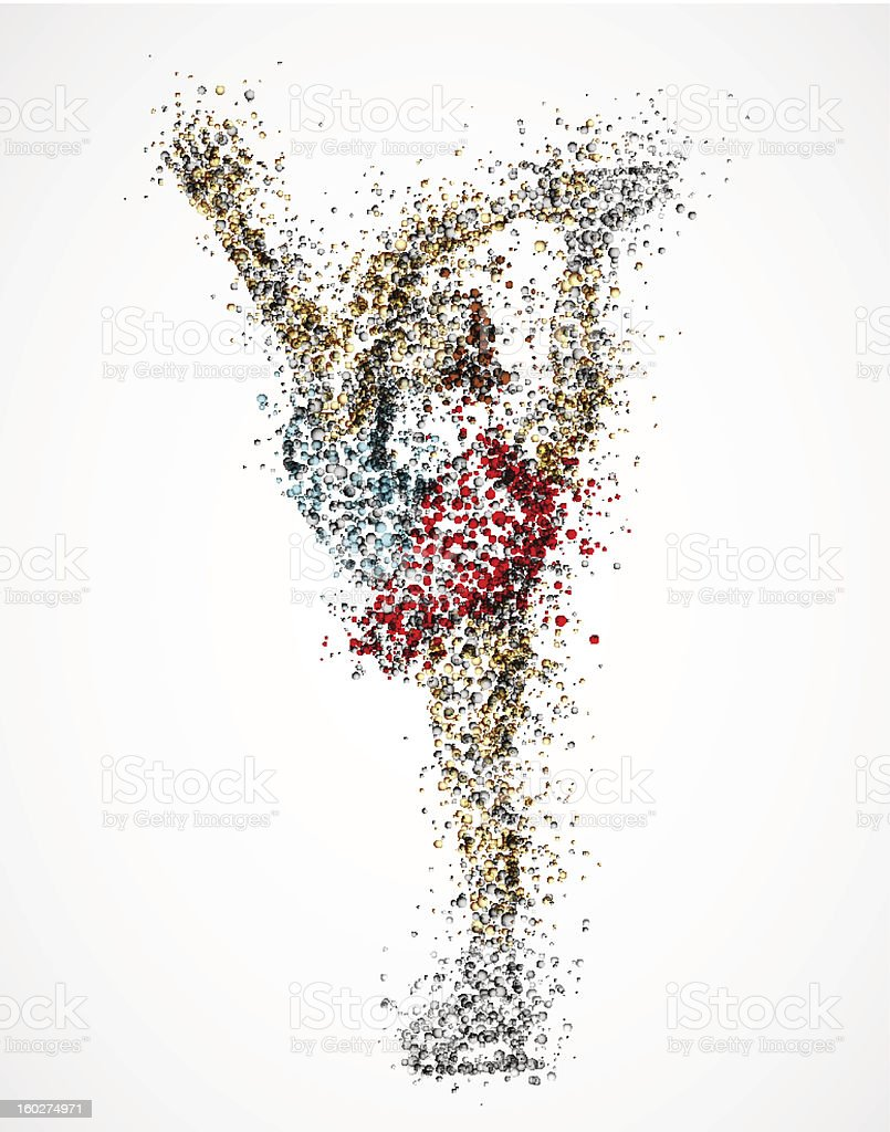 Abstract figure skater royalty-free stock vector art