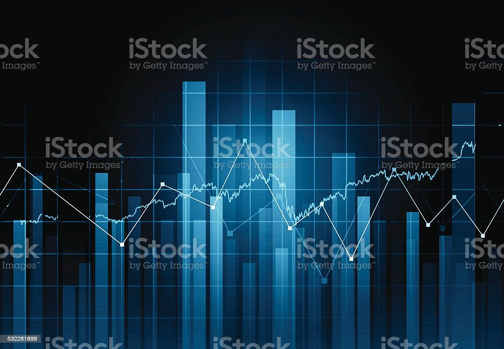 Abstract financial background vector art illustration