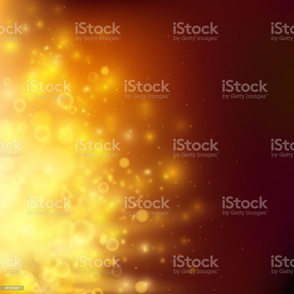 Abstract fire bokeh. Vector background vector art illustration