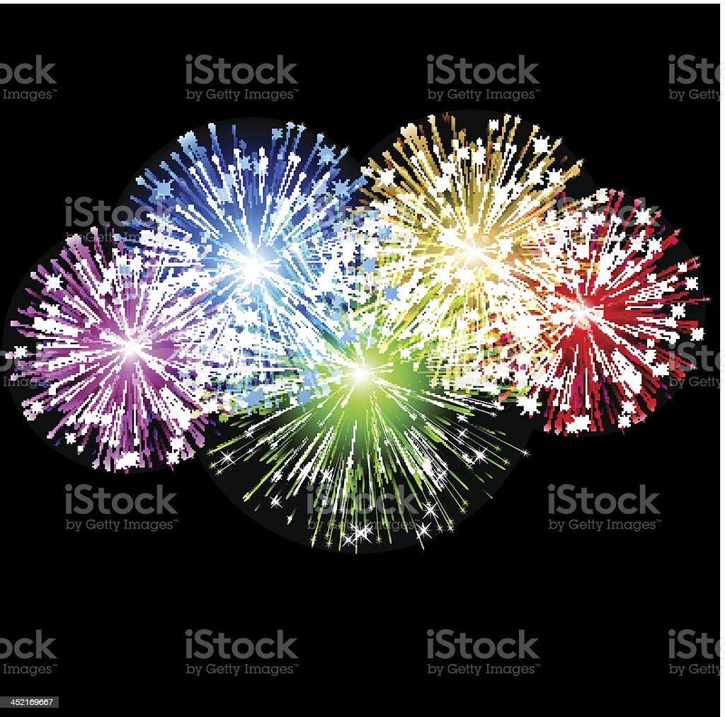 Abstract fireworks royalty-free stock vector art