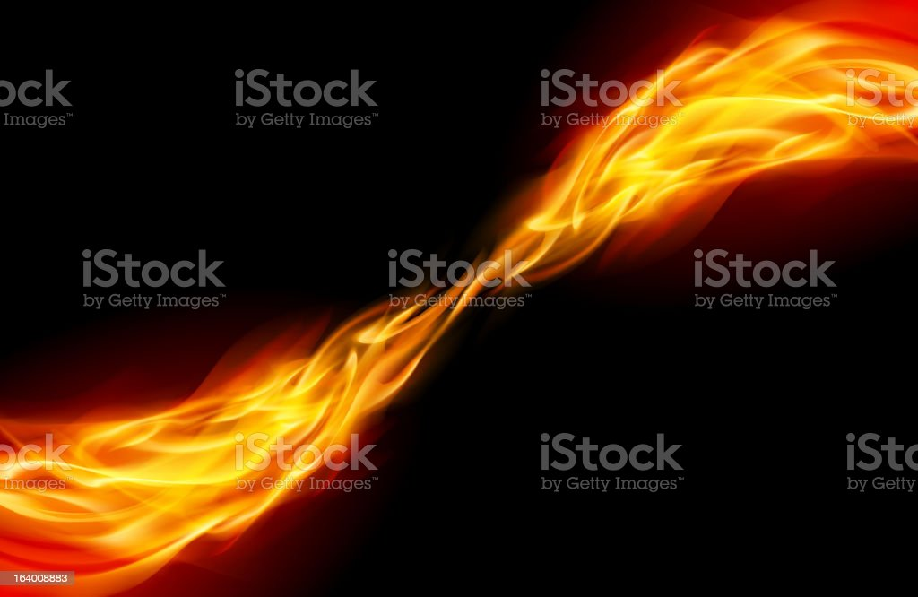 Abstract Flame royalty-free stock vector art