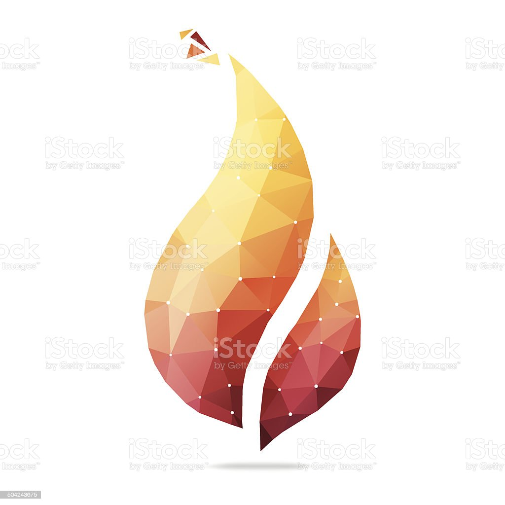Abstract Flame vector art illustration