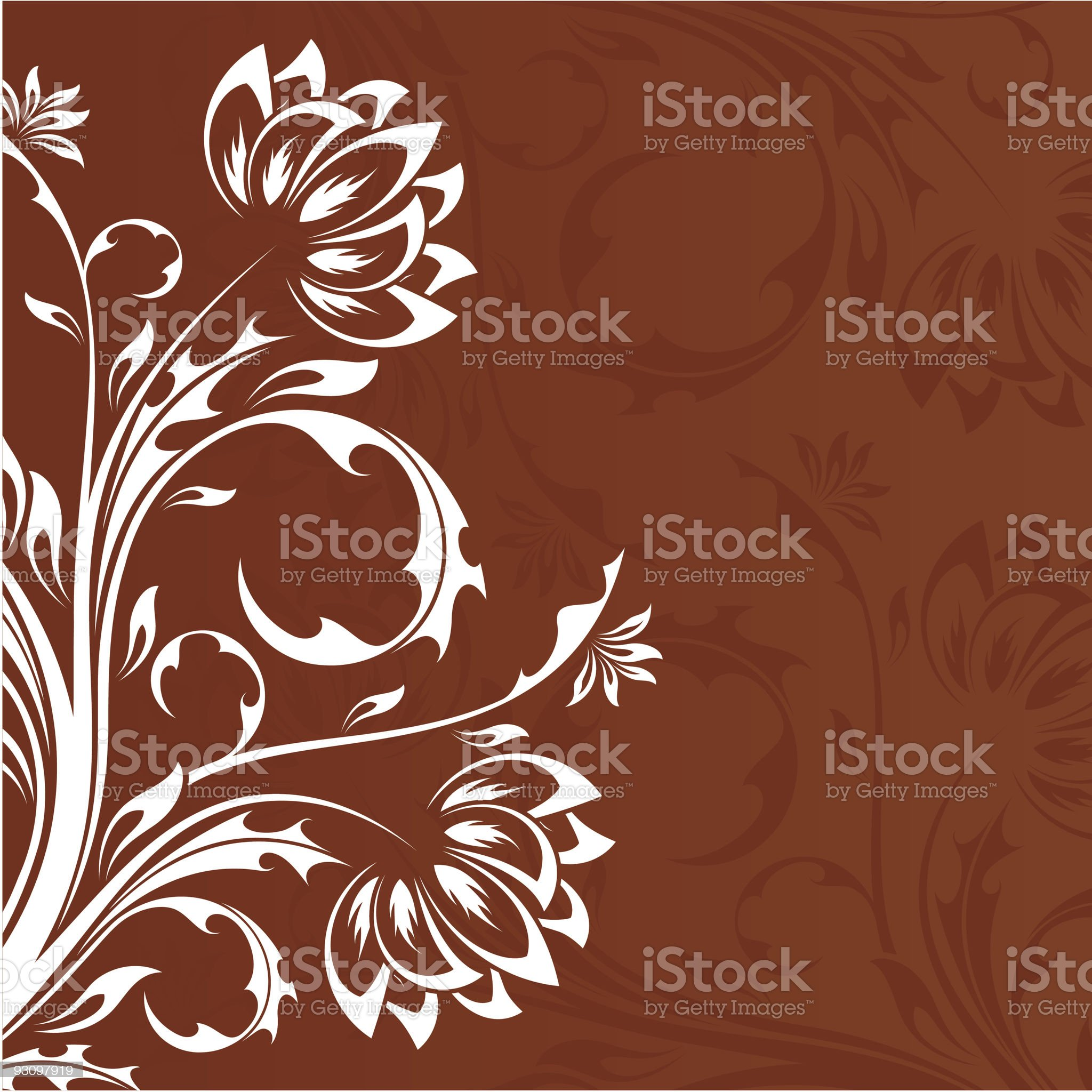 Abstract floral background royalty-free stock vector art