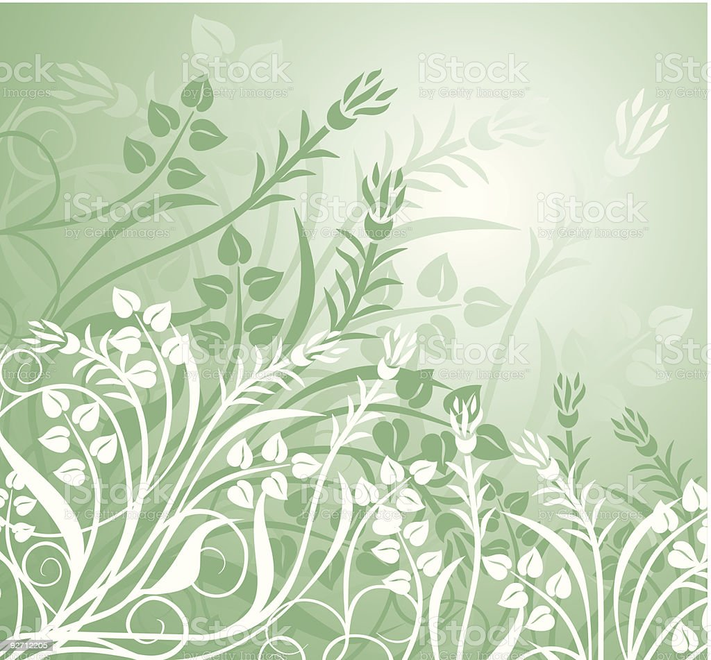 Abstract floral background, vector royalty-free stock vector art