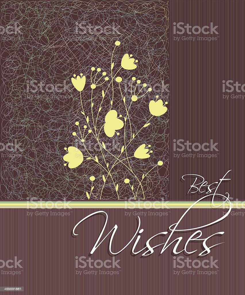 Abstract Floral Best Wishes Card royalty-free stock vector art
