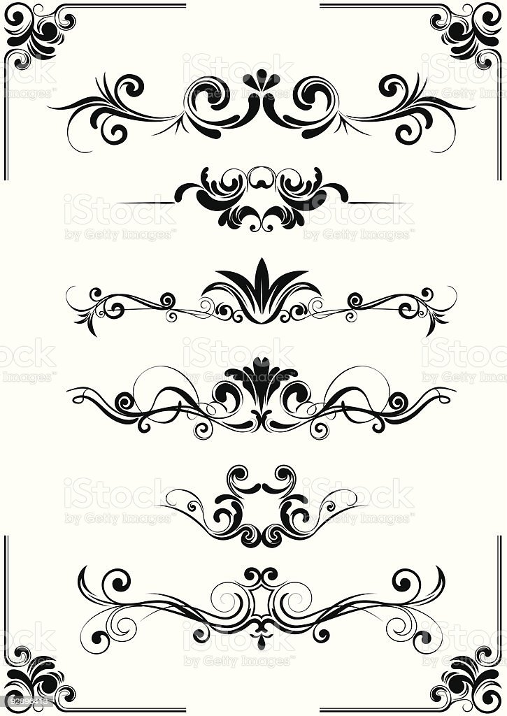 Abstract floral  design ornament royalty-free stock vector art