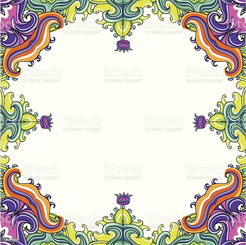 Abstract floral frame (series) royalty-free stock vector art