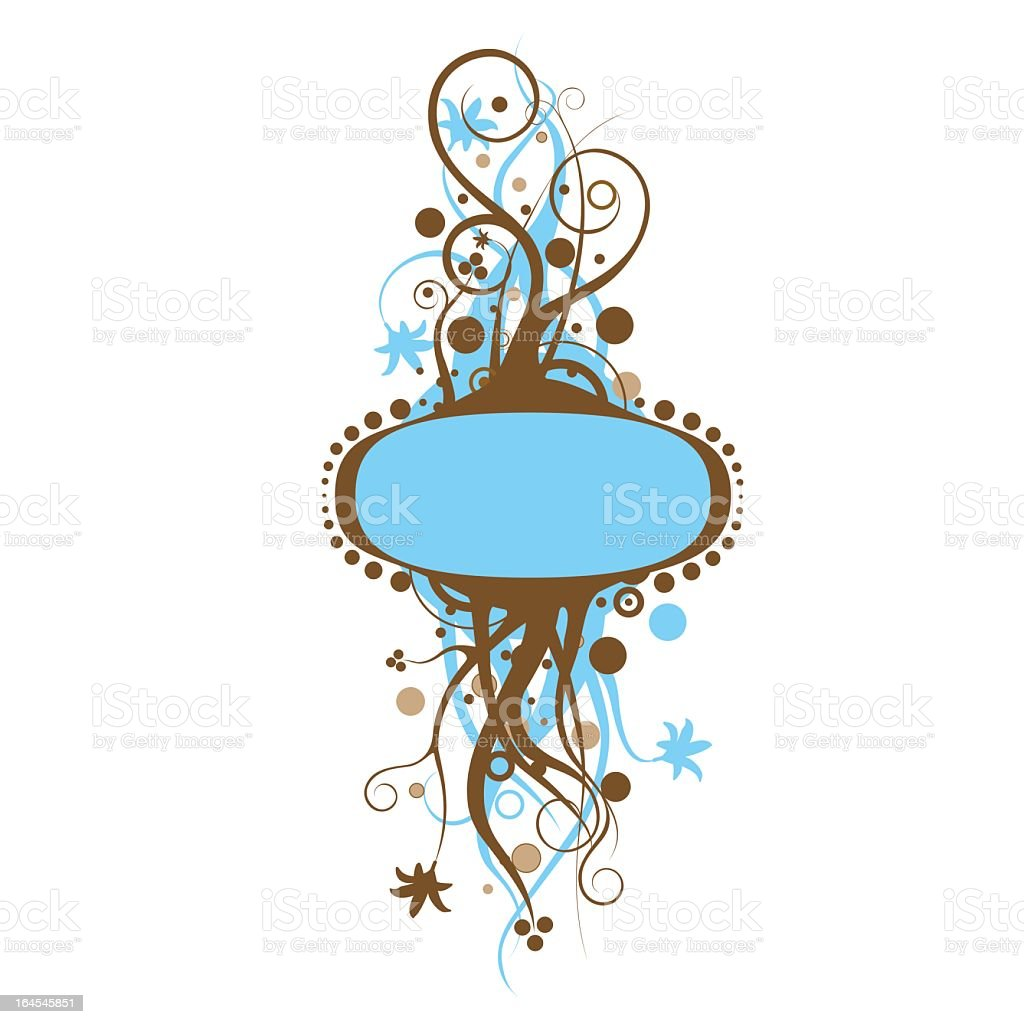 abstract floral frame royalty-free stock vector art