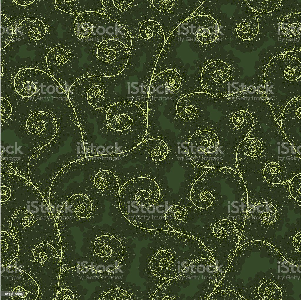 abstract floral green seamless background royalty-free stock vector art