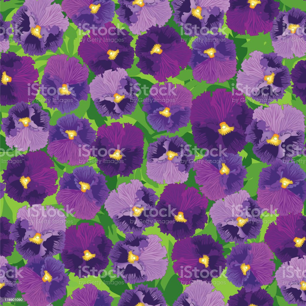Abstract Floral Ornamental Seamless Texture royalty-free stock vector art