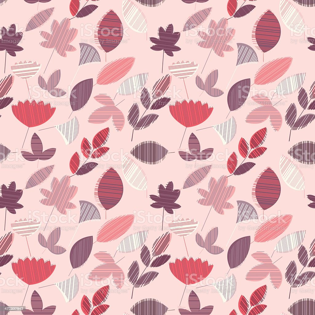 Abstract Floral Seamless Pattern royalty-free stock vector art
