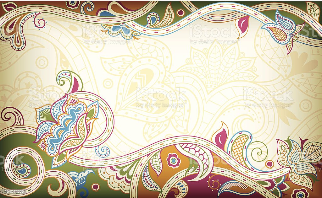 Abstract Floral vector art illustration