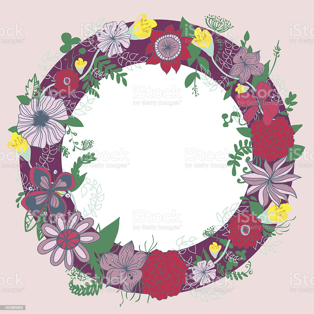 Abstract floral wreath. royalty-free stock vector art